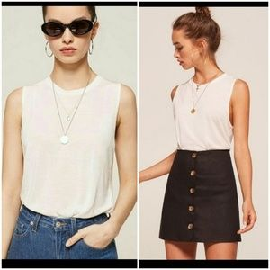 Reformation white tank top